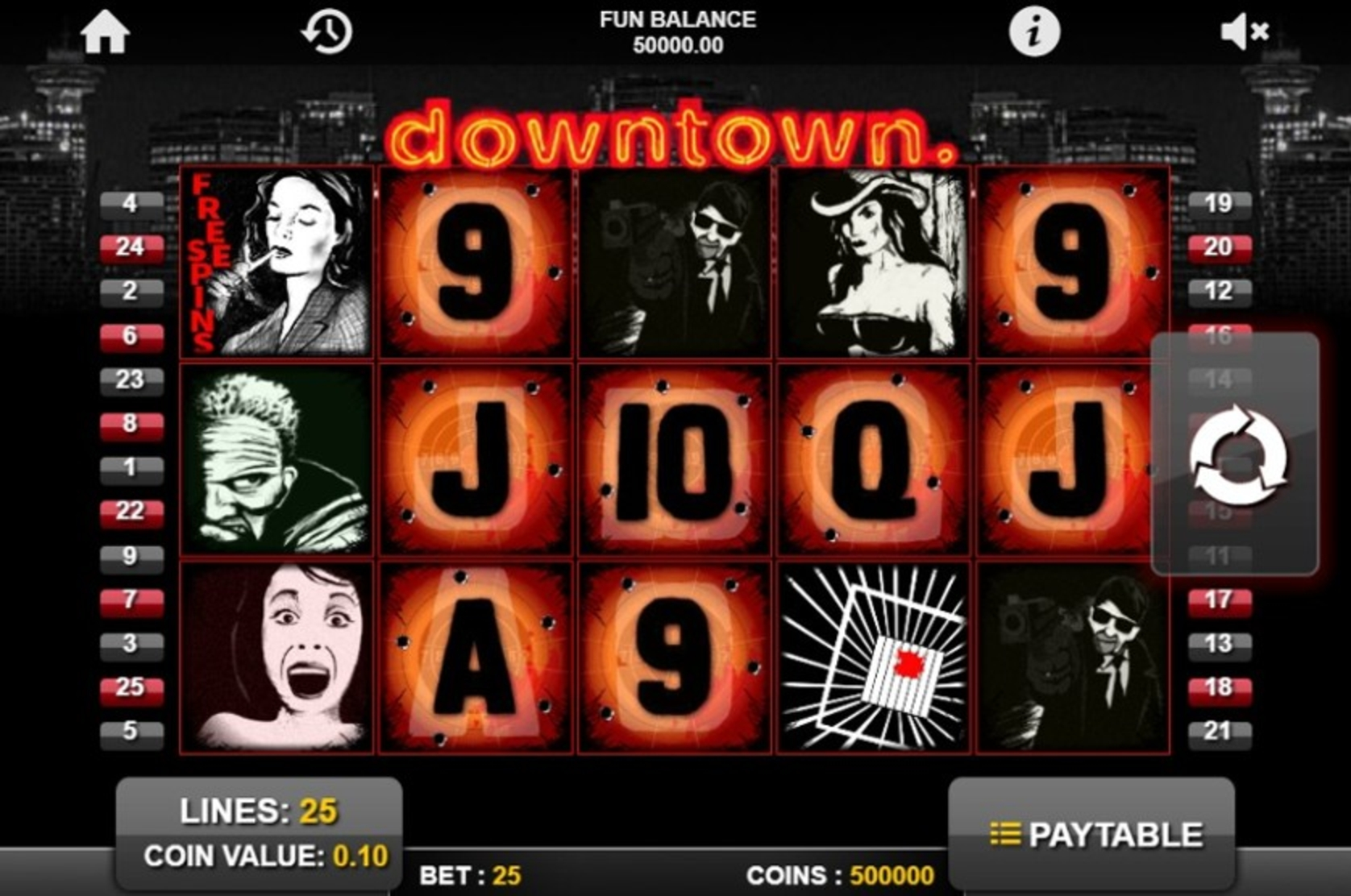Se Downtown Online Slot Demo Game, 1x2 Gaming