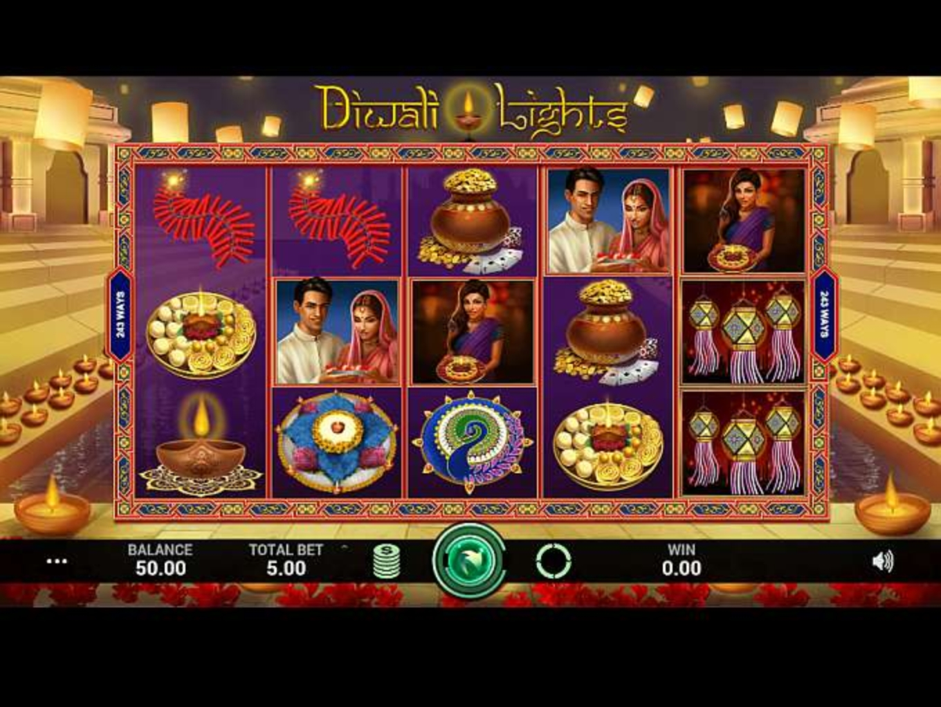 Se Diwali Lights Online Slot Demo Game, Indi Slots