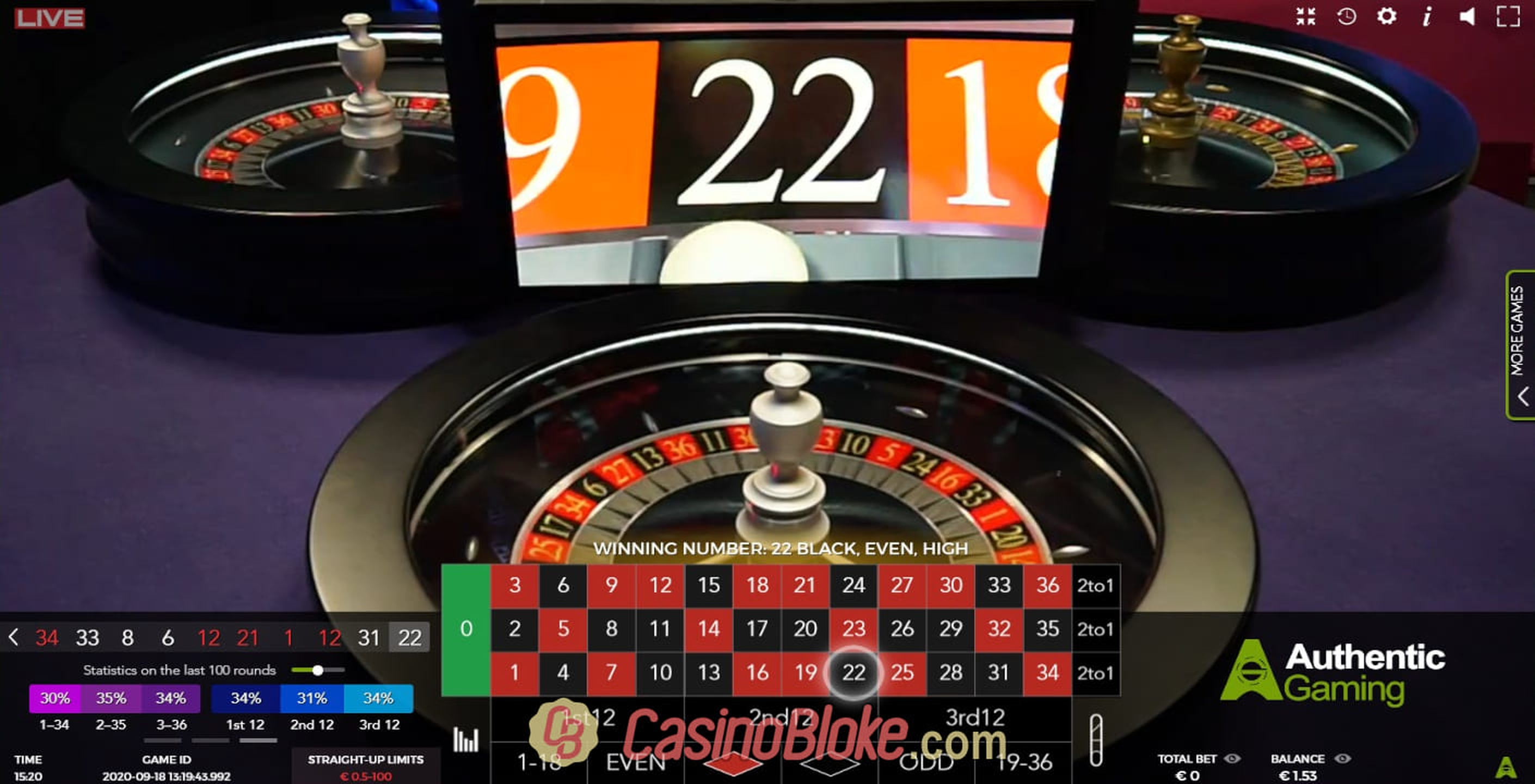 Se Auto Roulette Speed 1 Live Online Slot Demo Game, Authentic Gaming