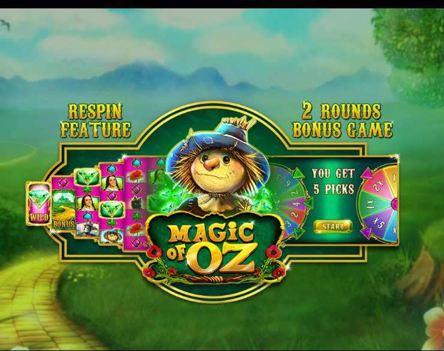 Se Magic of Oz Online Slot Demo Game, GamesOSCTXM
