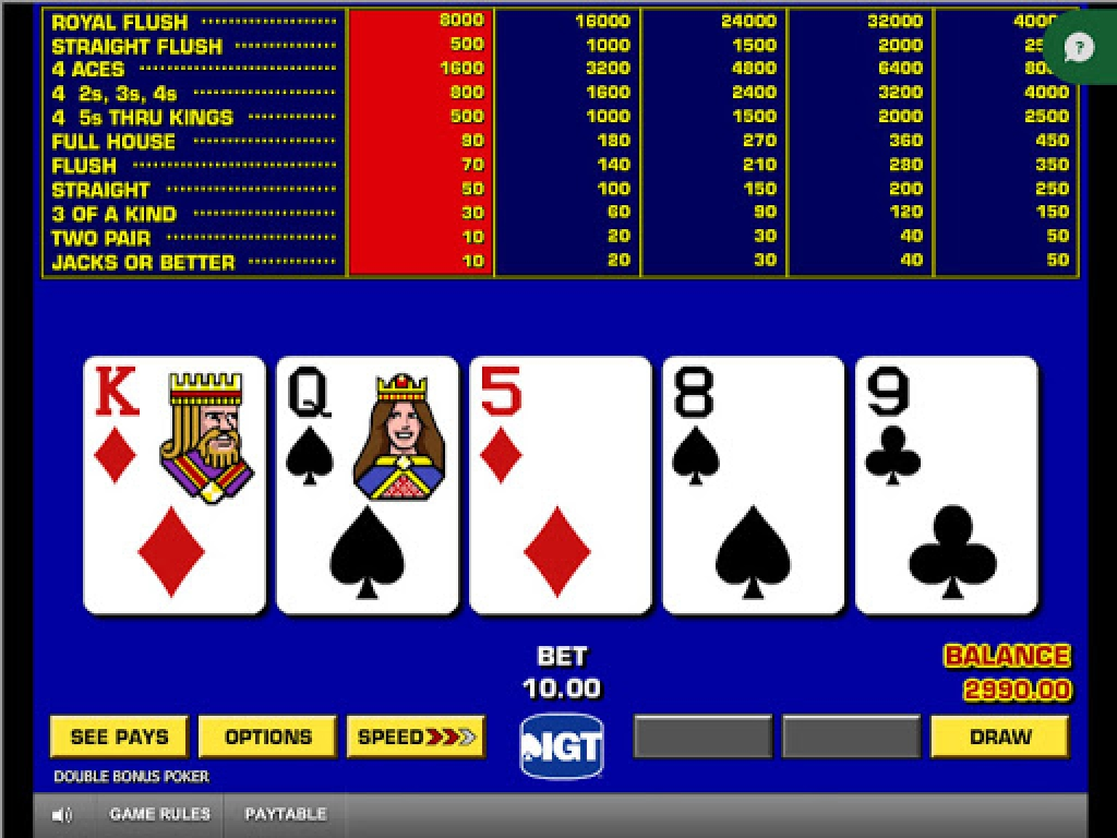 Se Game King Video Poker Online Slot Demo Game, IGT