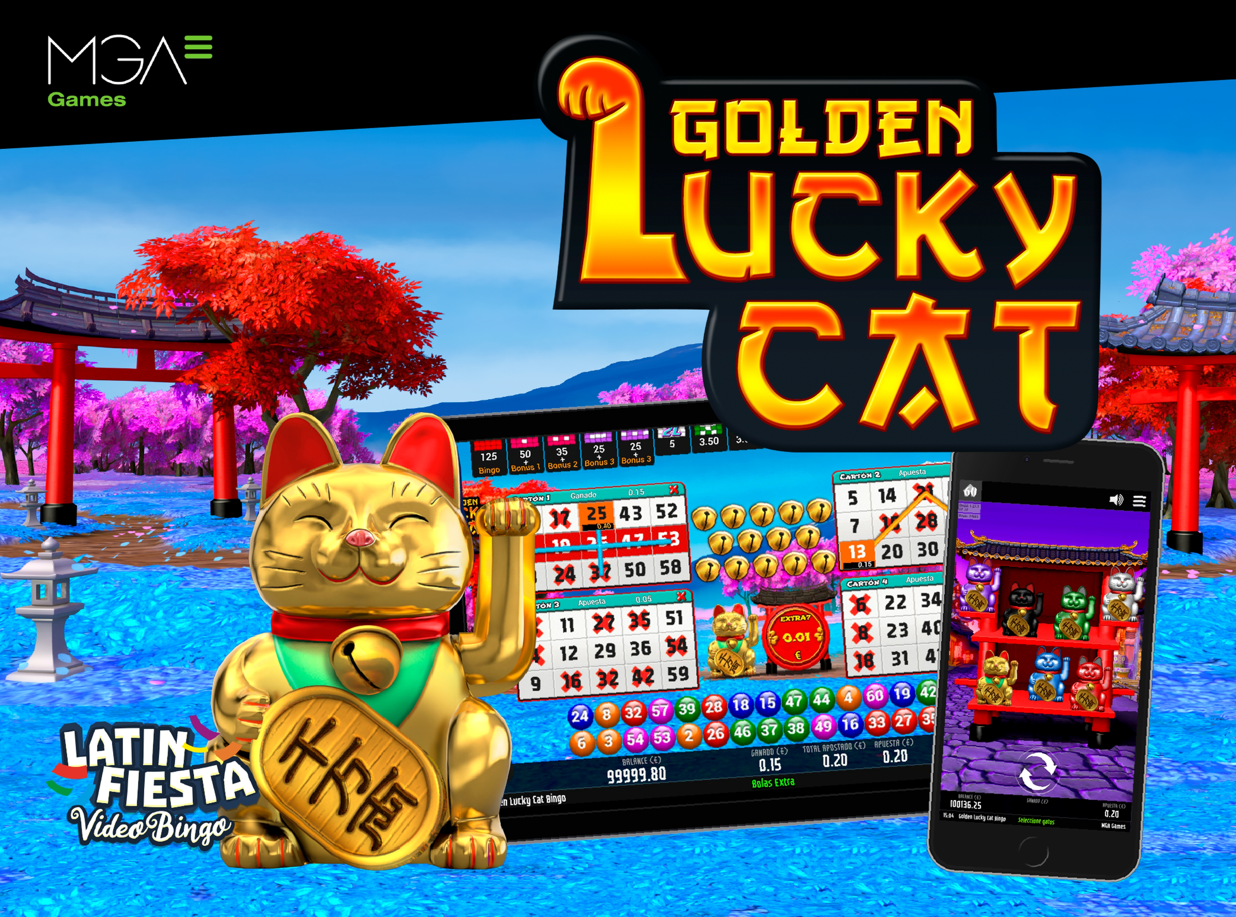 Se Golden Lucky Cat Bingo Online Slot Demo Game, MGA