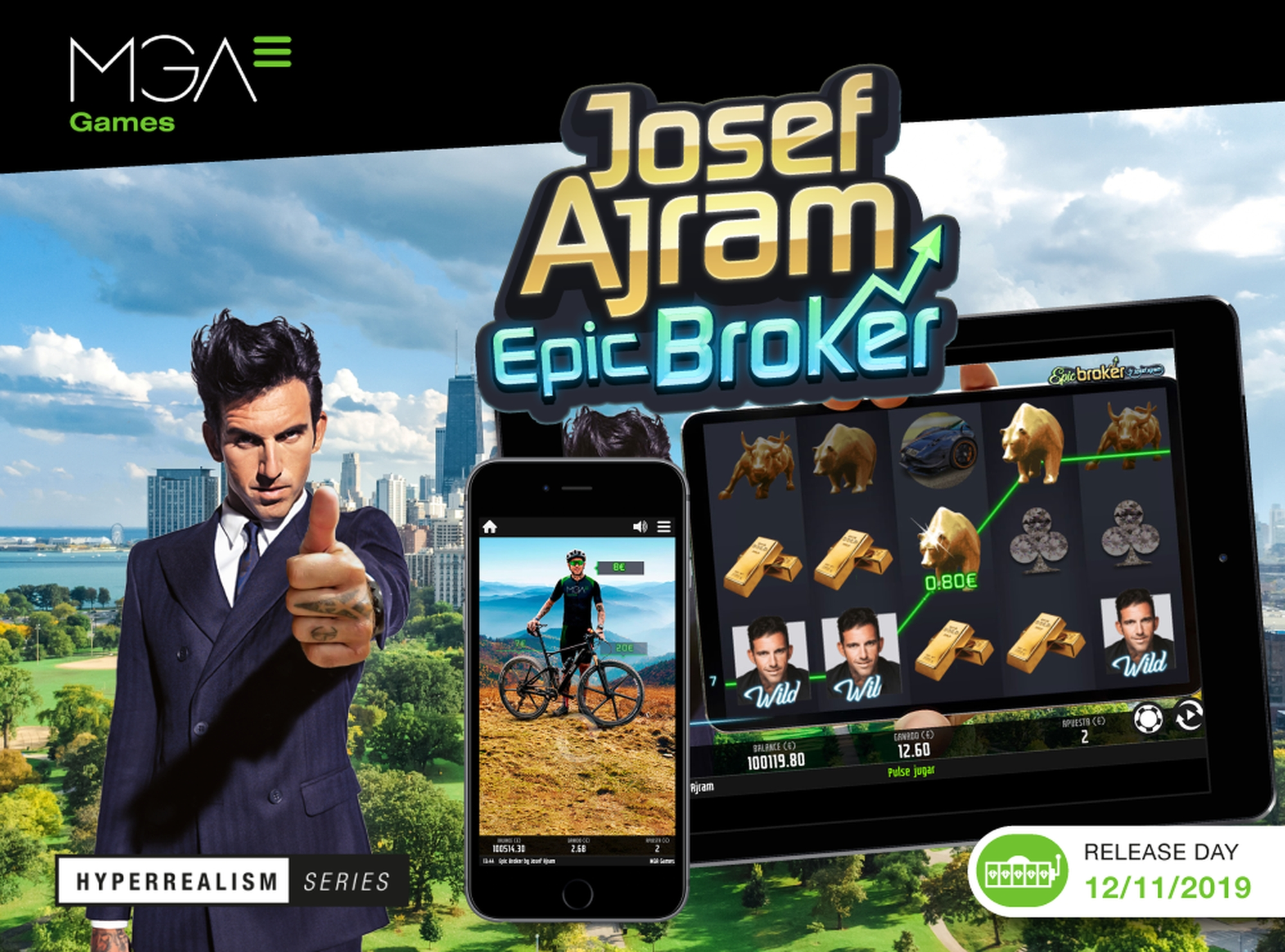 Se Josef Ajram Epic Broker Online Slot Demo Game, MGA