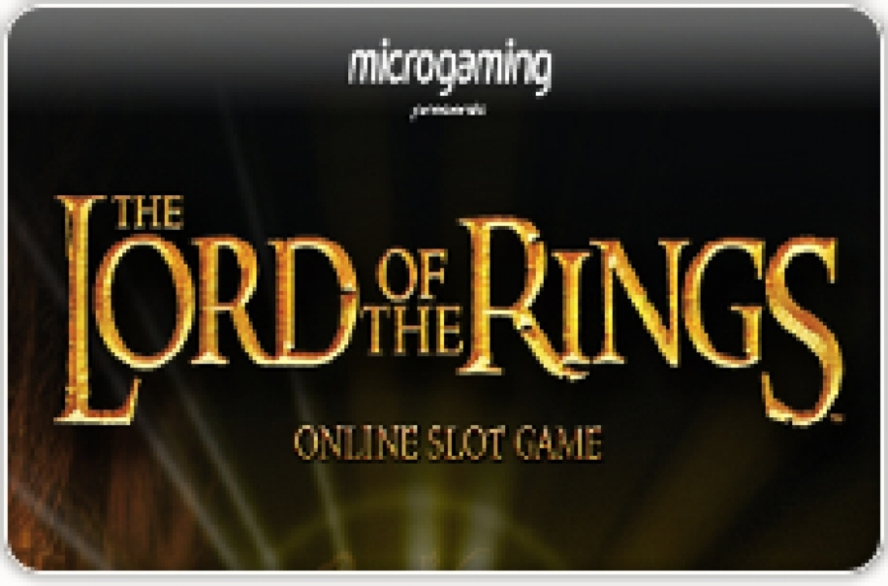 Se Lord of the Rings Jackpot Online Slot Demo Game, Microgaming