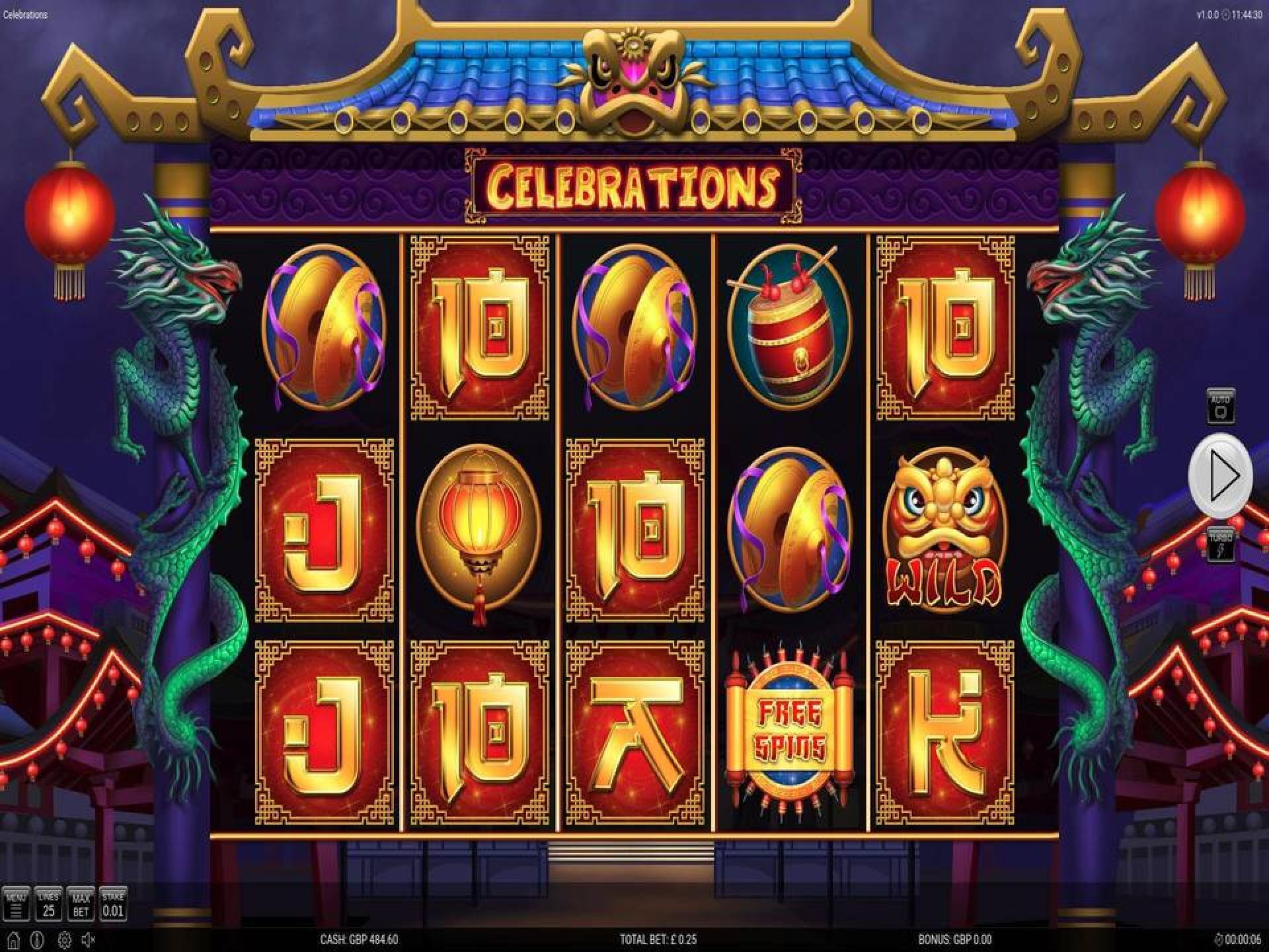 Se Celebrations Online Slot Demo Game, Nektan