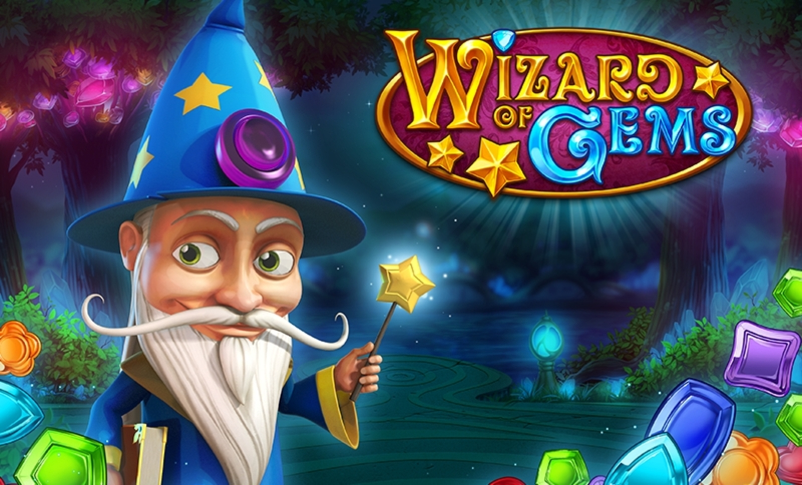 Se Wizard of Gems Online Slot Demo Game, Playn GO