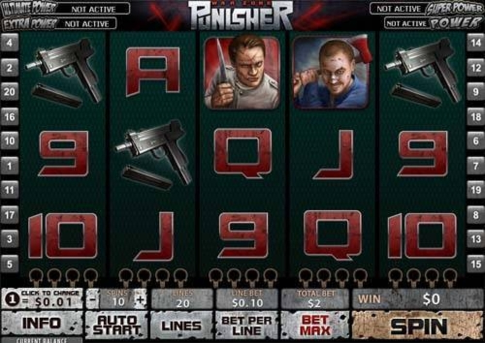 Se The Punisher Online Slot Demo Game, Playtech
