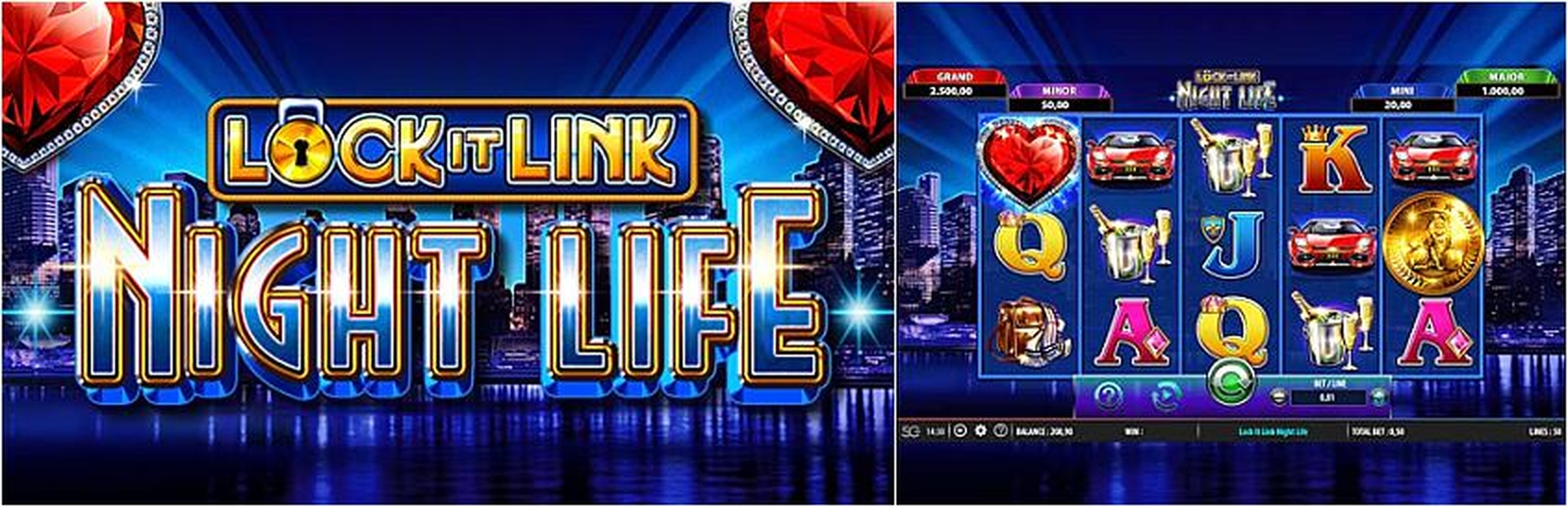 Se Lock it Link Night Life Online Slot Demo Game, SG Interactive