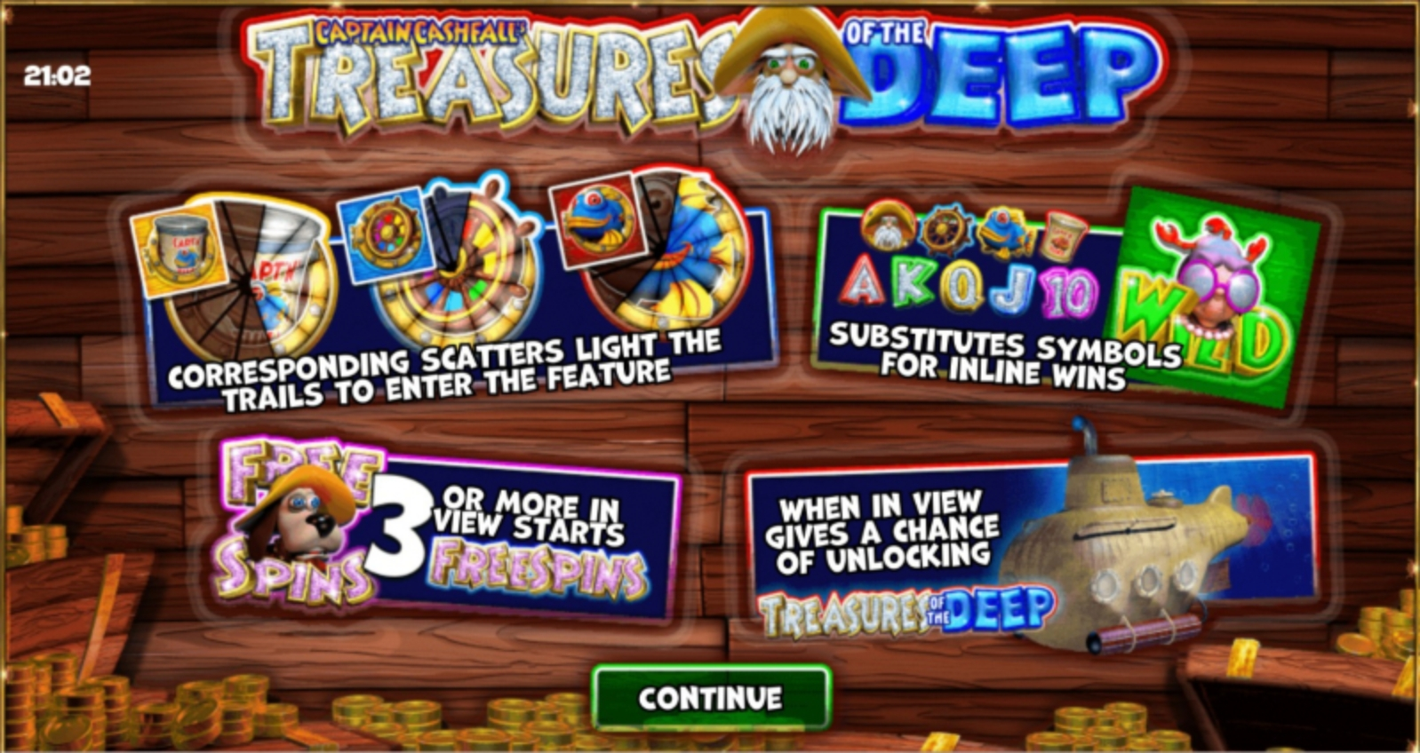 Se Captain Cashfall's Treasures of the Deep Online Slot Demo Game, Storm Gaming